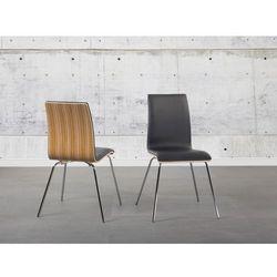 Krzesło brązowe - krzesło do kuchni - krzesło do jadalni - skóra ekologiczna - HARLEM