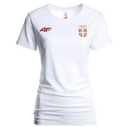 52aaefa3b Koszulka funkcyjna damska Serbia Pyeongchang 2018 TSDF700 - biały