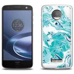 Fantastic Case - Lenovo Moto Z Force - etui na telefon Fantastic Case - niebieski marmur