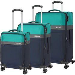 f21f084f6bf34 Travelite Stream zestaw walizek / komplet / walizki na 4 kółkach /  granatowy - granatowy