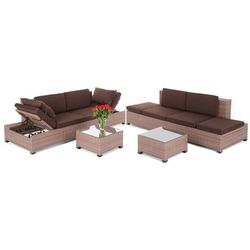 NAROŻNIK TECHNORATTANOWY MILANO BROWN DARK 2 W 1