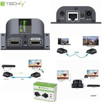 Techly Extender HDMI po skrętce Cat.6/6a/7 do 60m, FullHD, with IR