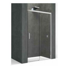 Drzwi przesuwane Novellini Kali PH 116, zakres regulacji 118-119,5 cm, profil srebrny, szkło przeźroczyste KALIPH116-1B