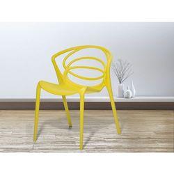 Krzeslo do ogrodu zólte - krzeslo do jadalni, do salonu - BEND