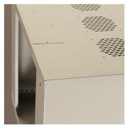 Netrack szafa wisząca 19'', 9U/400 mm - popiel, drzwi przeszklone