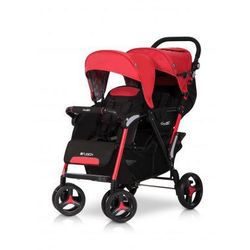 Easy Go Wózek dziecięcy bliźniaczy spacerówka Fusion Scarlet