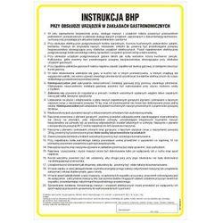 Instrukcja BHP przy obsłudze urządzeń w zakładach gastronomicznych