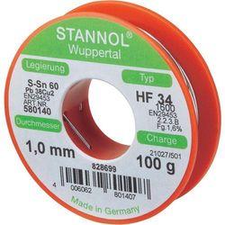 Cyna lutownicza z ołowiem Stannol 580140 Sn60Pb40 1.0 mm 100 g