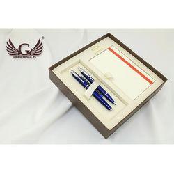Komplet Wieczne Pióro i długopis PARKER IM niebieski CT z notesem Parker