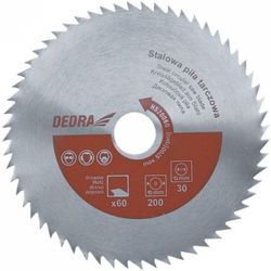 Tarcza do cięcia DEDRA HS20060 200 x 60 mm stalowa uniwersalna