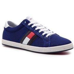 a978759537708 Sneakersy TOMMY HILFIGER - Essential Flag Detail Sneaker FM0FM02202  Mazarine Blue 440