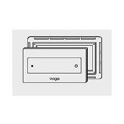 Płytka uruchamiająca Viega Visign for Style 12 szklana - szkło przejrzysty/szary (wzór 8332.4) 645 151