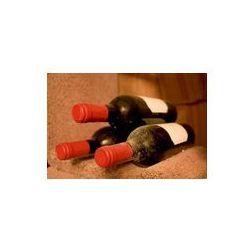 Foto naklejka samoprzylepna 100 x 100 cm - Trzy butelki wina leży