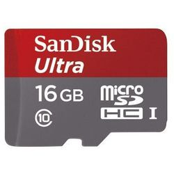 Sandisk microSDHC 16 GB Ultra 80MB/s C10 UHS-I + adapter SD + Memory Zone Android