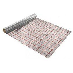 Folia aluminiowa pod ogrzewanie podłogowe 10mb + spinki