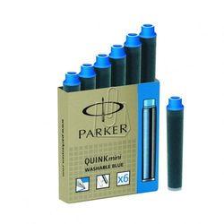 Naboje do piór PARKER mini - niebieskie zmywalne