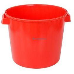 Okrągły pojemnik plastikowy bez pokrywy 30l (Kolor: czerwony)