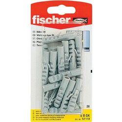 Kołki rozporowe Fischer 52116 S6 GK, nylon, 20 szt.