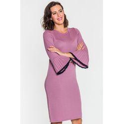 549ce837d3 suknie sukienki jesienny naszyjnik dzianinowy (od Oliwkowa Prosta ...