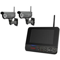 MS70-2 - Zestaw do bezprzewodowego monitoringu dwie kamery i monitor LCD - android/iphone