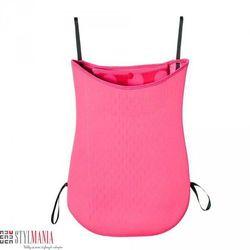 Dwustronna torba na wózek z neoprenu 40 Settimane różowa w kropki