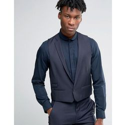 Hart Hollywood by Nick Hart Slim Waistcoat in Texture - Blue