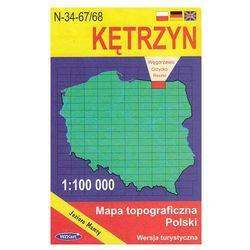WZKart: KĘTRZYN 1:100 000 mapa topograficzna Polski wydanie turystyczne (opr. miękka)