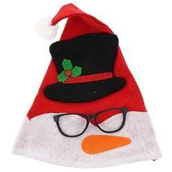 Czapka świąteczna Bałwanek w okularach 30x42 cm