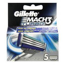 Gillette Mach 3 Turbo (M) wkład do maszynki do golenia 5 szt