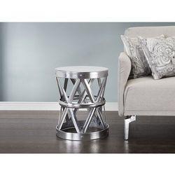 Nowoczesny stolik kawowy srebrny - lawa - MARRAKESH