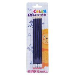 Zestaw 4 fioletowe ołówki Color Creative