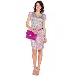 Sukienka w kolorowy wzór paisley - Vito Vergelis
