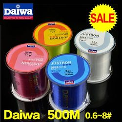 Daiwa fishing line 500m Monofilament Strong Quality Color Nylon Fishing Lines 8LB 12LB 16LB 20LB 25LB