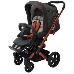 HARTAN Wózek głęboko-spacerowy Vip XL (939) Grey/Mandarin Karo