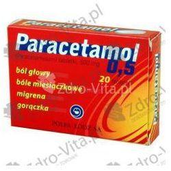 Paracetamol 0,5 tabl. 0,5 g 20 tabl.