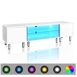 Stojak na telewizor, biały, LED, 160 cm Zapisz się do naszego Newslettera i odbierz voucher 20 PLN na zakupy w VidaXL!