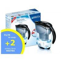 Dzbanek do wody Brita Elemaris Meter Cool Czarny - 2,4L + 2szt filtrów Brita MAXTRA
