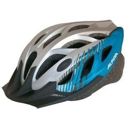ALPINA Tour 3 - Kask rowerowy, 58-63cm - Silver-Blue (58-63cm)