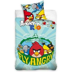 Tip Trade Dziecięca pościel bawełniana Angry Birds Fly, 140 x 200 cm, 70 x 80 cm