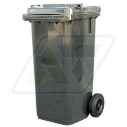 Kosz na śmieci plastikowy 120 L czarny
