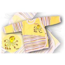 Kaftanik niemowlęcy zapinany z boku Aqua 56-62 żółty