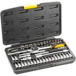 Zestaw kluczy nasadowych TOPEX 38D640 1/4 cala (46 elementów)