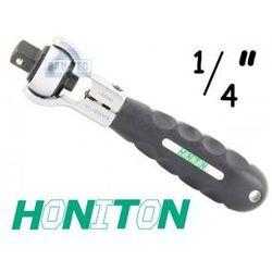 Grzechotka obrotowa na bity i kwadrat 1/4' HONITON