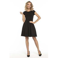 b8e9e6327b suknie sukienki czarna kobieca sukienka z podwojna falbanka ...