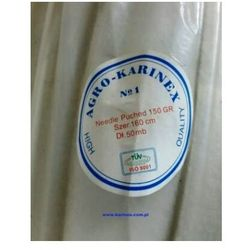 Geowłóknina 150 g/m2, biała 1,6 x 50 mb. Rolka.