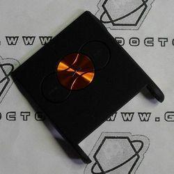 Obudowa Sony Ericsson W350i przednia klapka czarna pomarańczowe klawisze