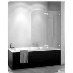 Parawan nawannowy SanSwiss PUB2 dwuczęściowy składany, prawy 120x140 cm chrom, szkło przeźroczyste PUB2D12001007
