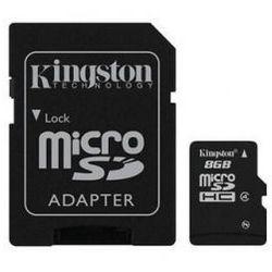 Karta pamięci Kingston microSDHC 8GB class4 + adapter SD