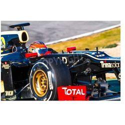 Fototapeta Jerez de la Frontera, Hiszpania - 10 lutego: Romain Grosjean z Lotus Renault F1 wyścigi na sesji szkoleniowej