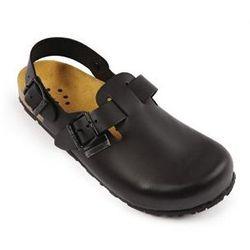 Skórzane buty Slip On z paskiem   czarne   rozmiary 36-47
